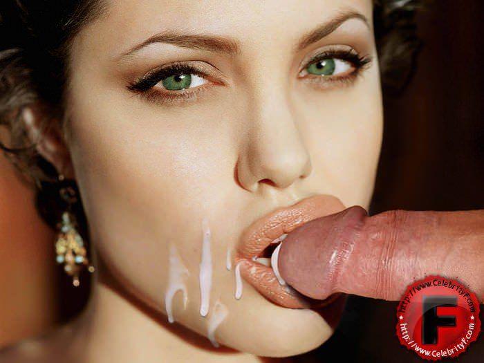 Angelina jolie cum shot porn 2