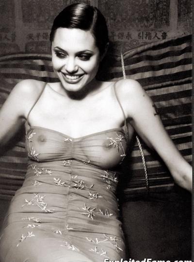 Анджелина Джоли в прозрачном платье 2 фото