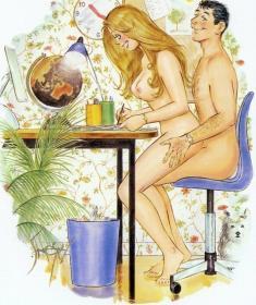 Порно картинки рисованные с приколами (15 рисунков)
