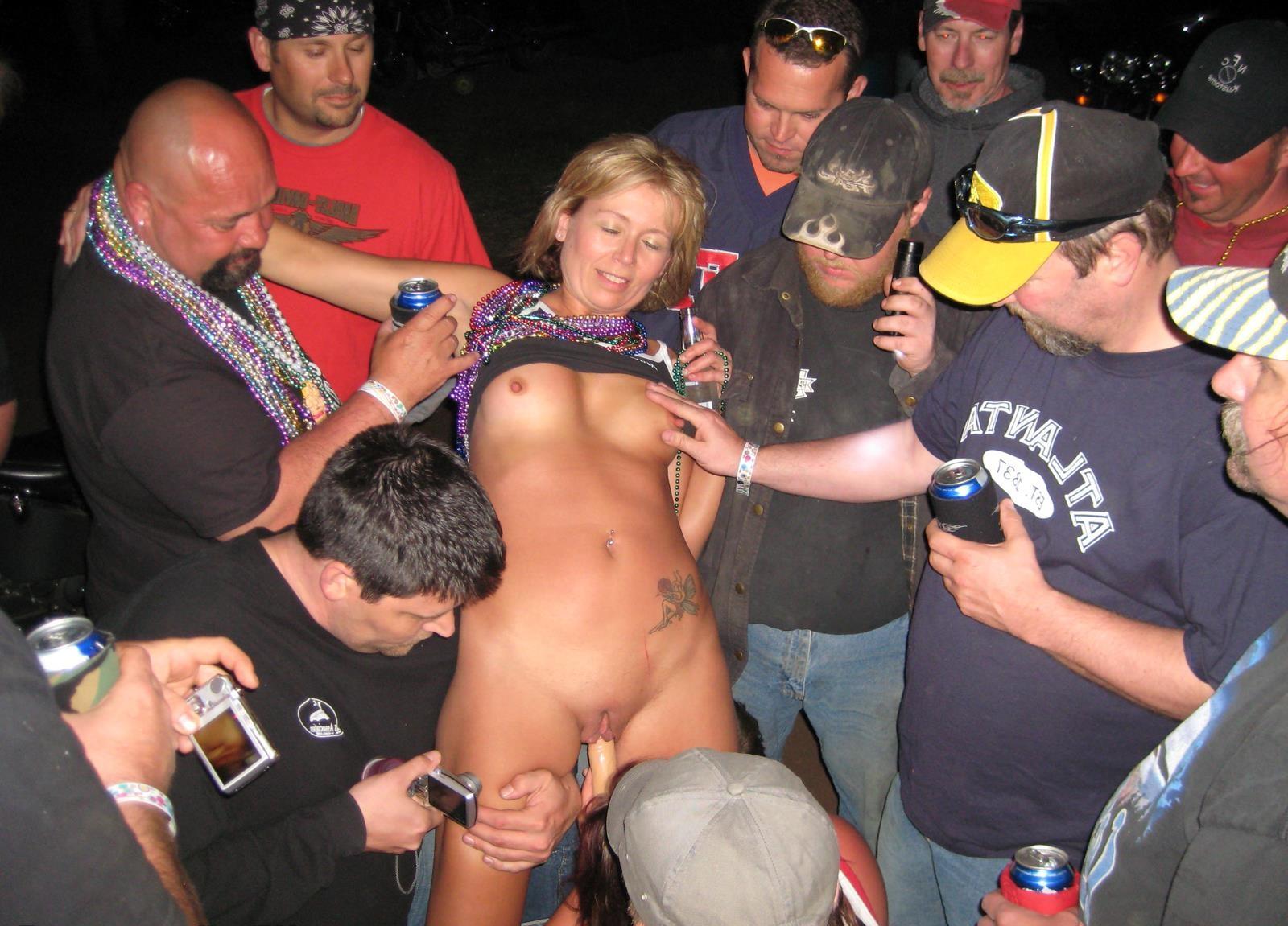 Public drunken nude