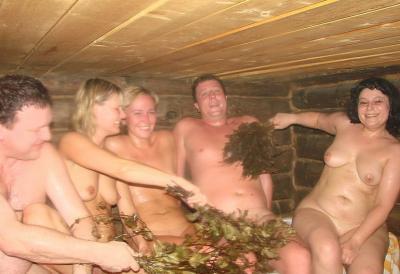 Групповая русская баня голых русских 9 фото